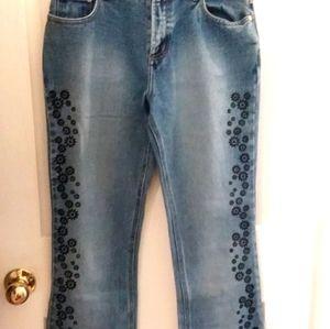 No Boundaries Medium Blast Blue Jeans Floral